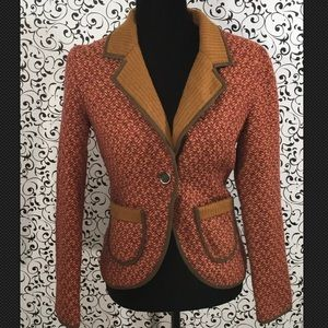 Hazel Orange Tweed Blazer